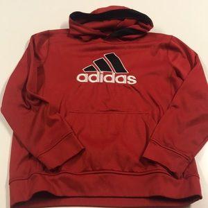 ADIDAS Boys XL Red Hoodie Sweatshirt
